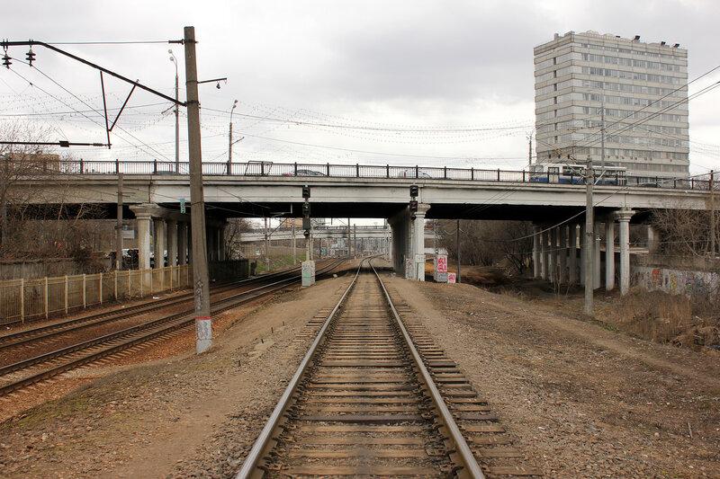 Станция Подмосковная, перегон Тушино-Подмосковная и перегон Сер бор - Подмосковная