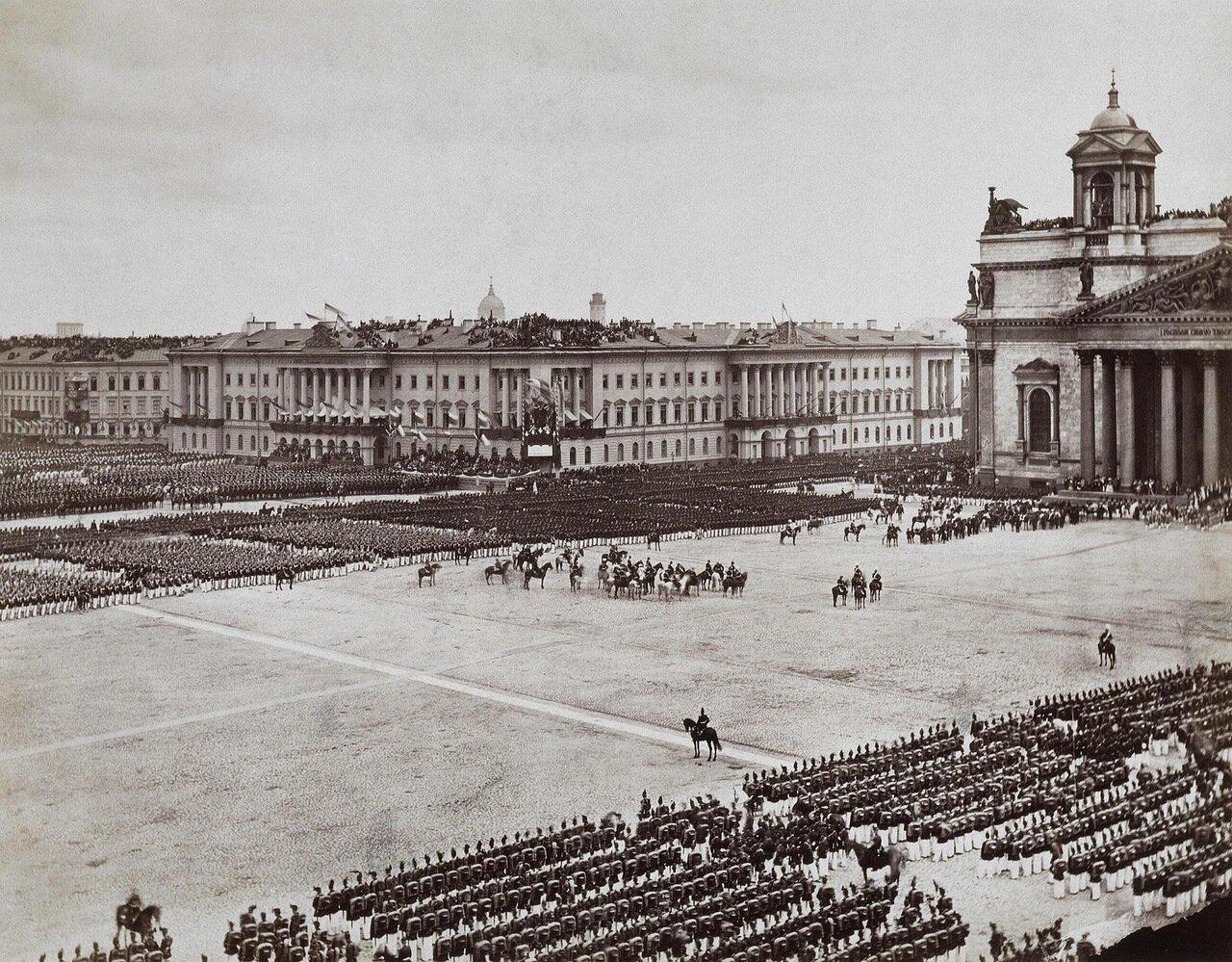 Выход торжественной процессии из Исаакиевского собора. 1872