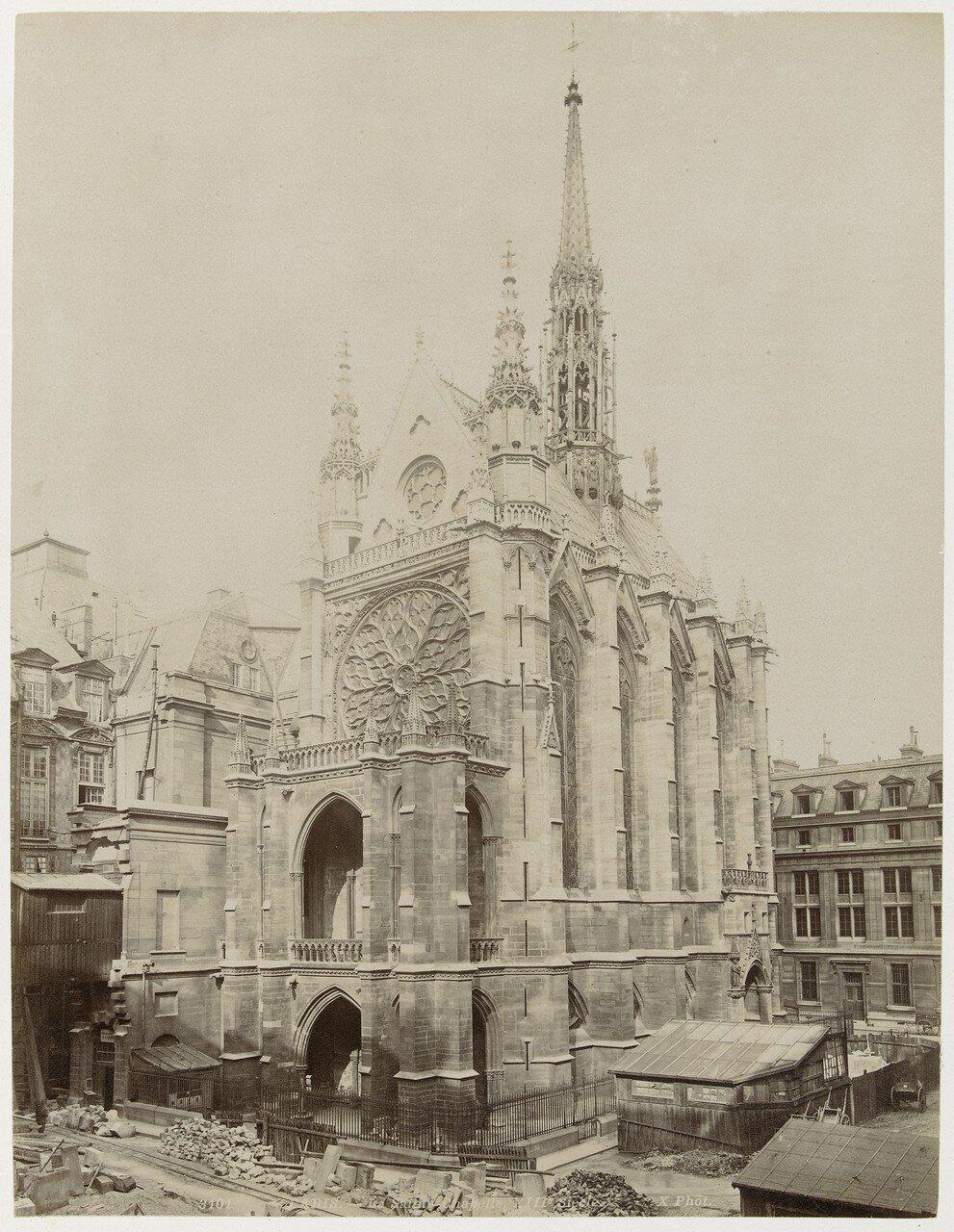 1850-е. Сент-Шапель в процессе реконструкции