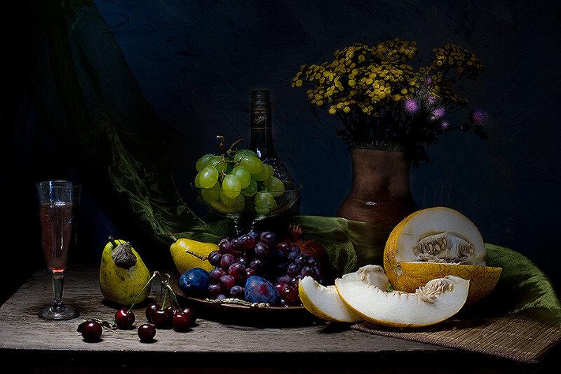 """Комментарии (стр. 1) - Схема вышивки  """"Натюрморт с фруктами """" - Схемы автора  """"avzv """" - Вышивка крестом."""