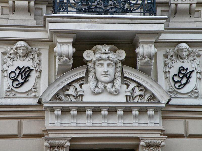 Рижский югенд-стиль. угол ул. Элизабетес (Елизаветинская)  и Антонияс