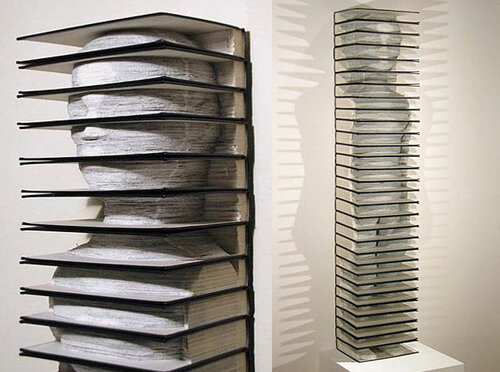 recycling paper: art from old books