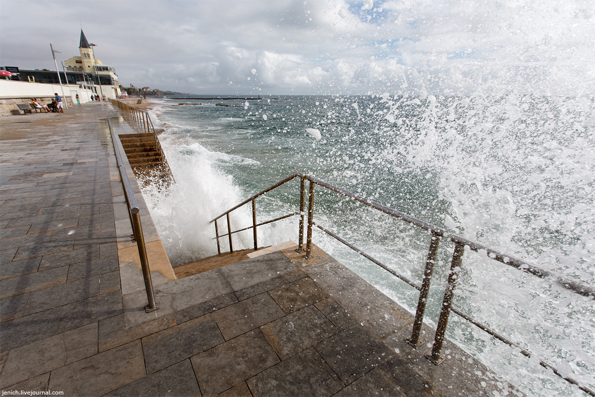 фото, фотография, эшторил, океан, прибой, пляж