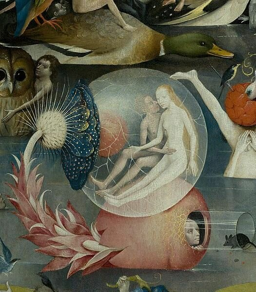 Hieronymus Bosch - The Garden of Earthly Delights, central panel, detail (circa 1450–1516)