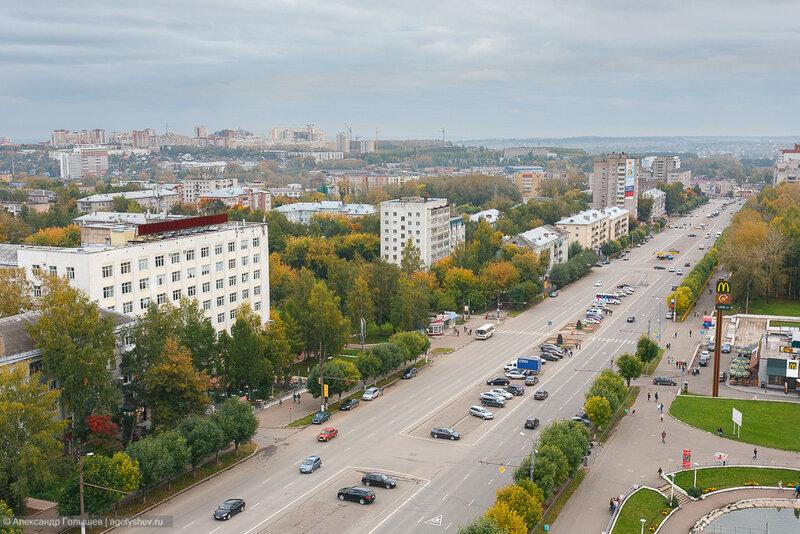 Осенний Киров с крыши