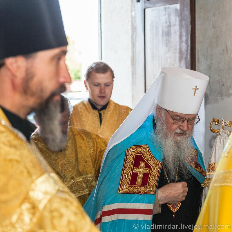 Встреча митрополита Владимирского и Суздальского Евлогия в Храме Святителя Великого в Кистыше