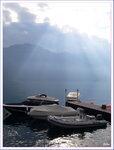 Лодки у Тремедзо на озере Ларио, Италия