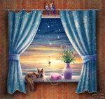 Ночью у окна
