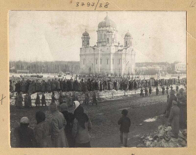 Манифестация Сибирского саперного полка, 7 марта 1917 г.