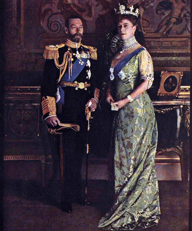 1914 King George and Queen Mary in their first natural colour photograph 13 june London illustrated news2.jpg