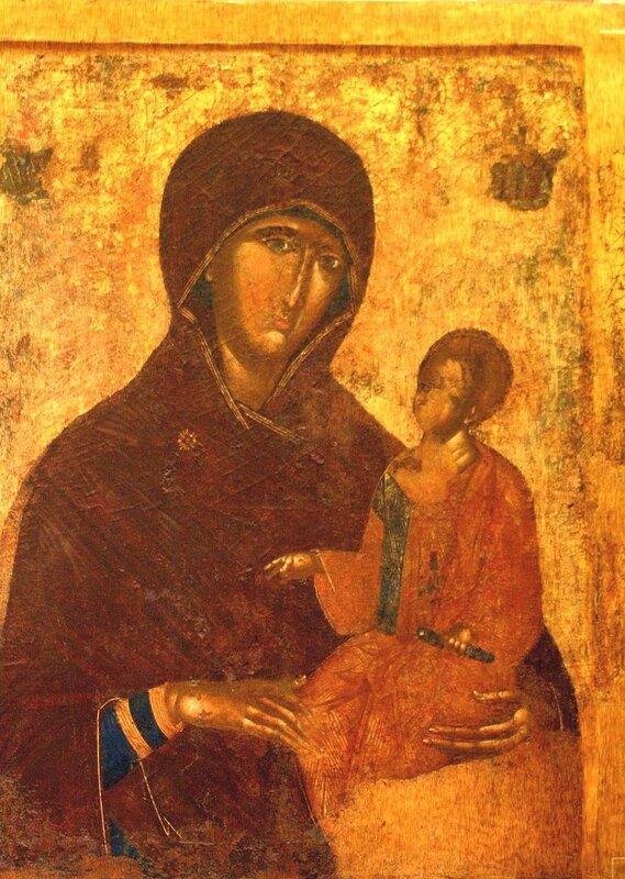Богоматерь Одигитрия. Икона XV века. Византийский музей в Афинах.