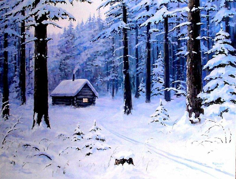 А за окном уже зима, снежинки падают на землю!
