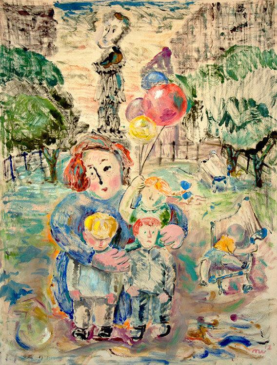 Дети на фоне Пушкина