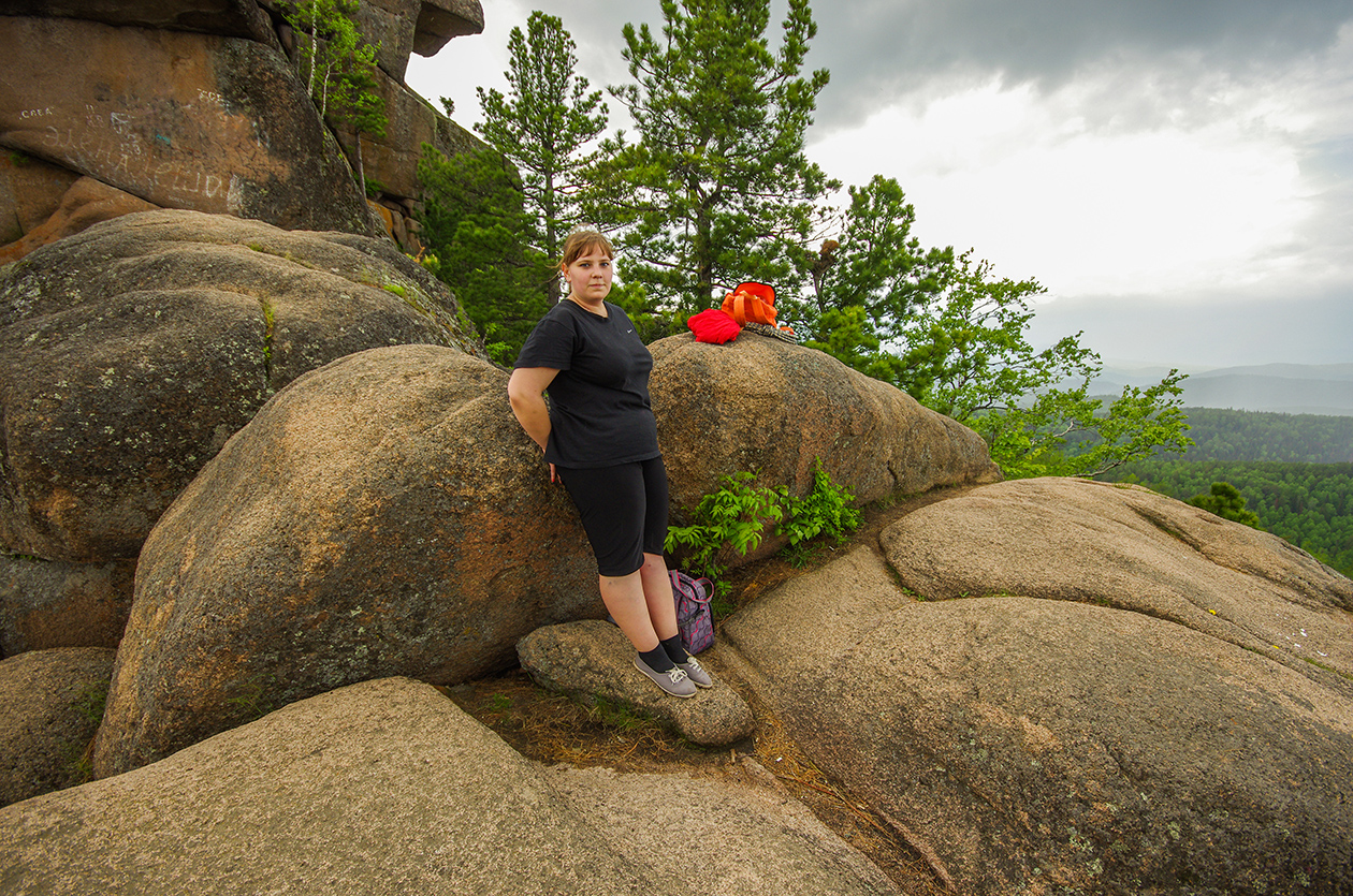 Люба на скалах