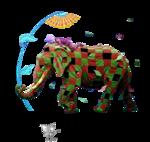 Lize-olifant met clownd op rug.png