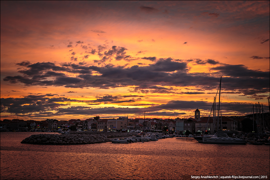 Адский закат в Хорватии