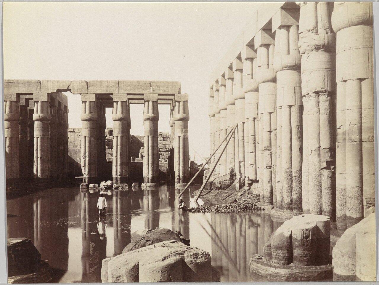 Храм Луксор (Вид на двор Аменхотепа III)