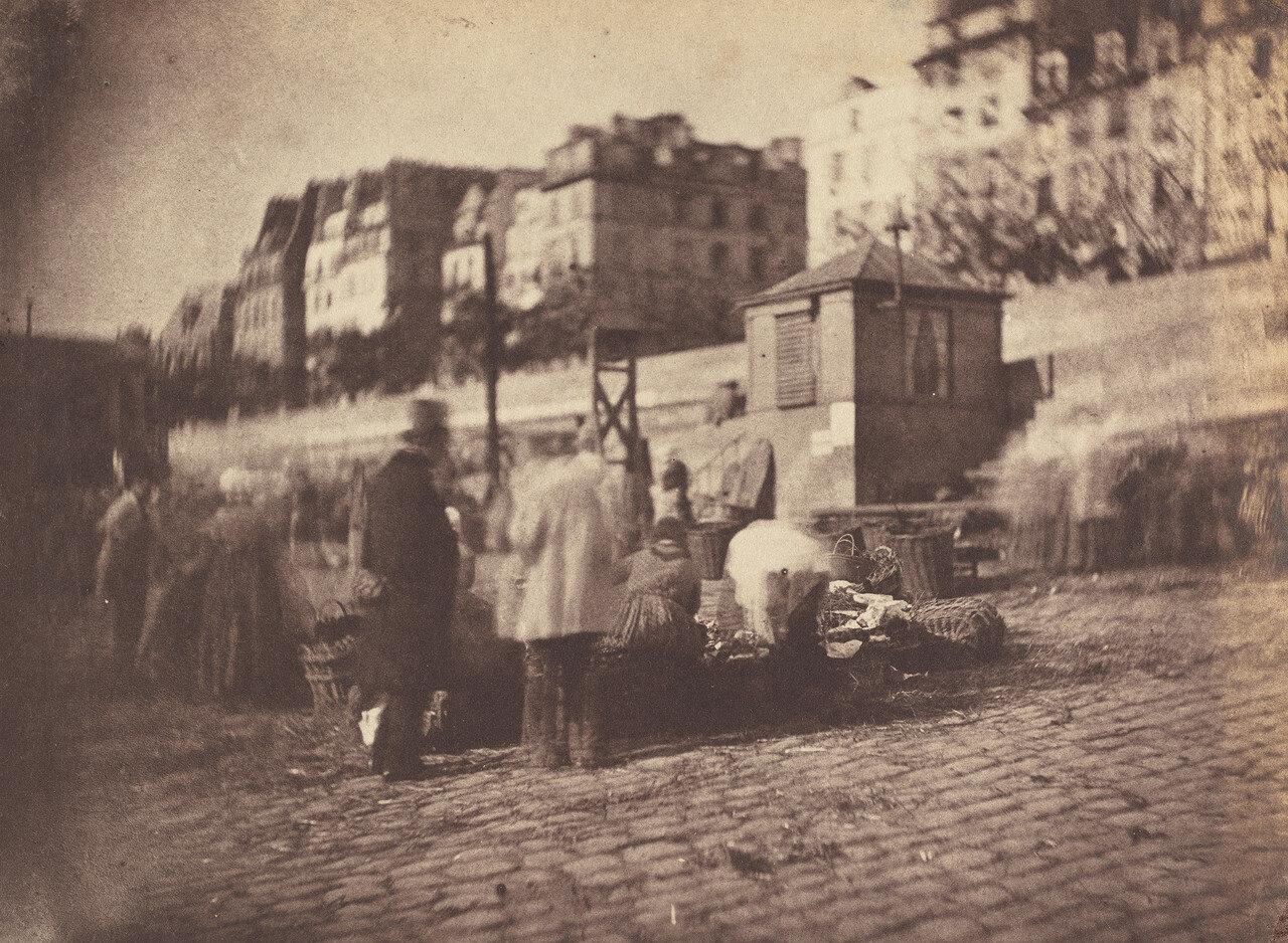 1852. Торговля у входа в Ратушу