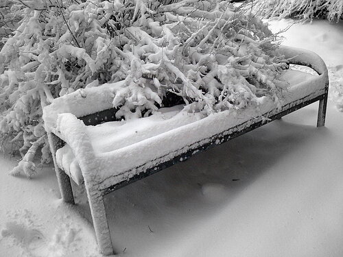Скамейка для зимы 3.