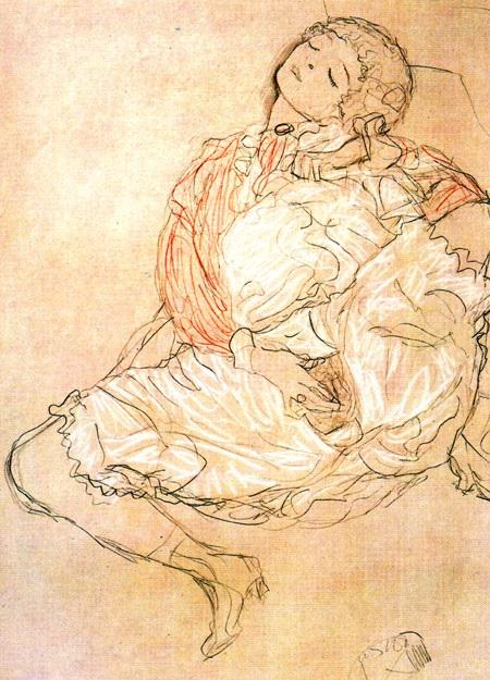 Мастурбация 1913 года. Густав Климт.(1862–1918). Masturbation  1913 Gustav Klimt (1862–1918)