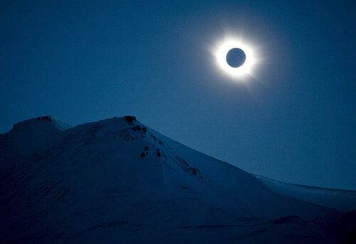 Солнечное затмение в Норвегии