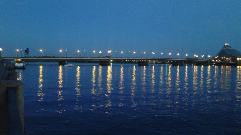 Даугава, Каменный мост
