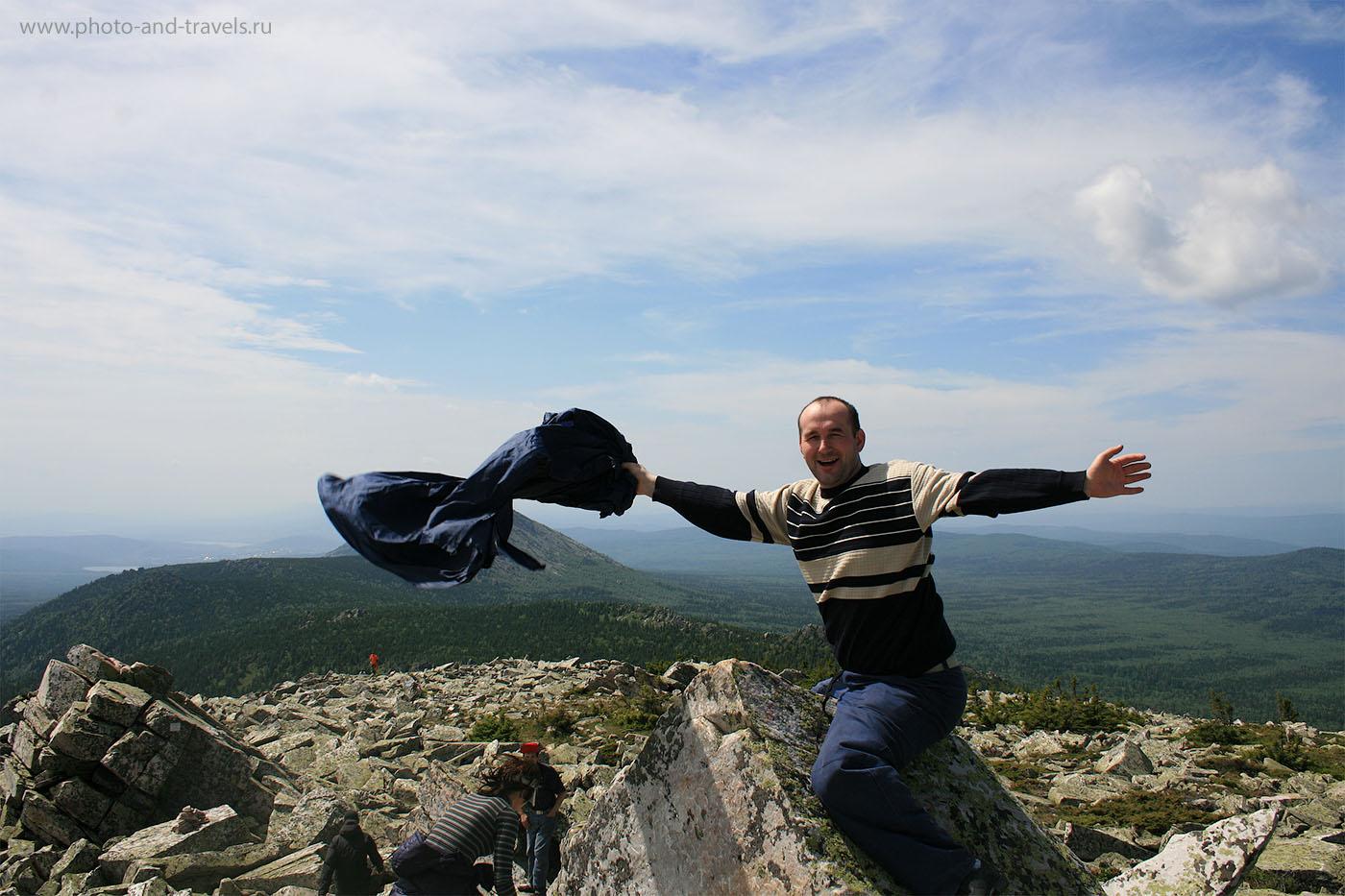 12. Счастье есть... Не Эверест и Килиманджаро, конечно, покорил. Но, все же... На вершине горы Круглица в национальном парке Таганай