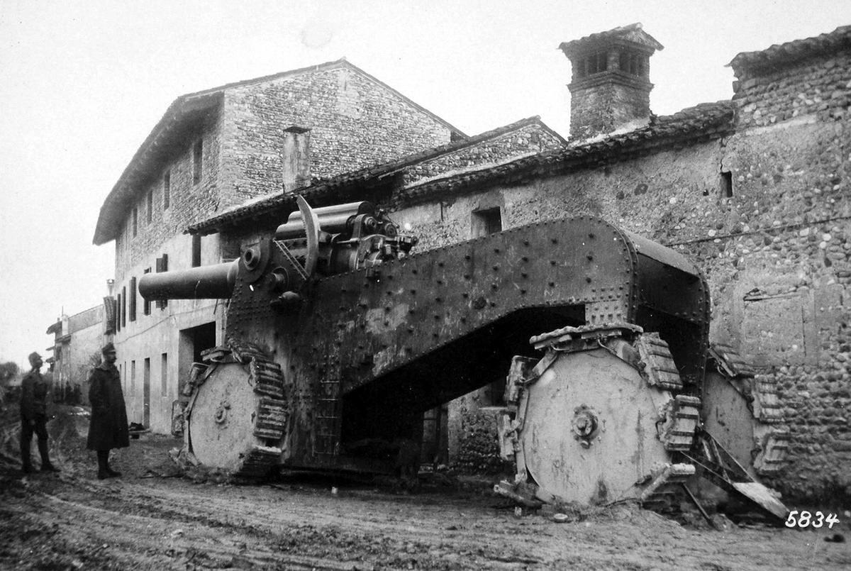 Гигантская немецкая пушка на территории Италии (ноябрь 1917 года) (22)