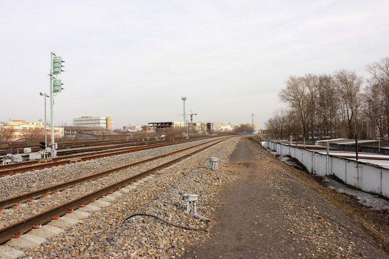 Выходной Ч2 станции Ростокино, вид на Белокаменную