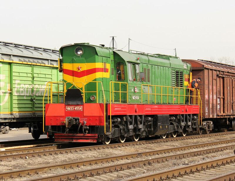 ЧМЭ3-4554 нас станции Ростокино