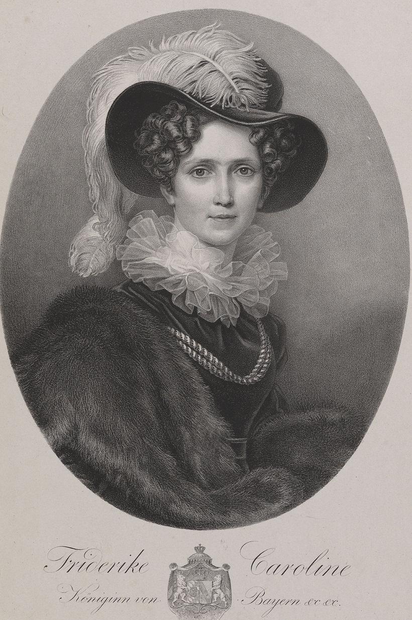 Royal CollectionПосле Stieler, Джозеф Карл (1781-1858) Фридерике Кэролайн (2 Жена Максимилиана I, король Баварии)