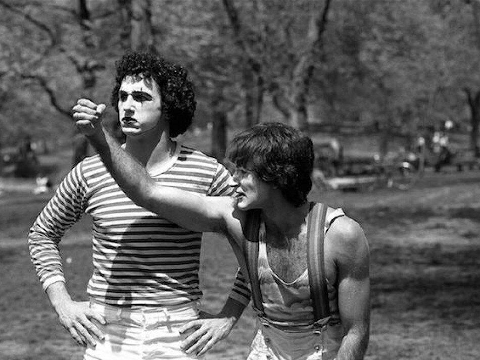 1974. Робин Уильямс и Тодд Оппенгеймер в Централ-Парке. Нью-Йорк