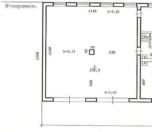 вот план помещения - 11,6*11
