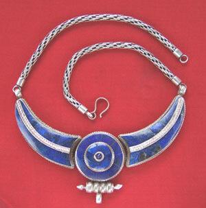 тибетские этнические ожерелья, серебро, лазурит, ручная работа, натуральные камни