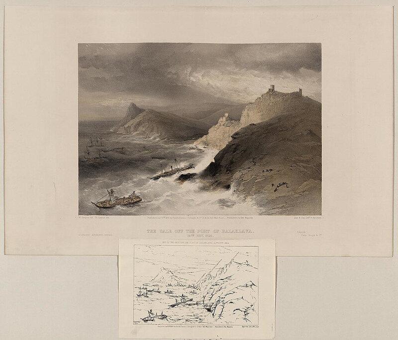Шторм в порту Балаклавы 14 ноября 1854 г.