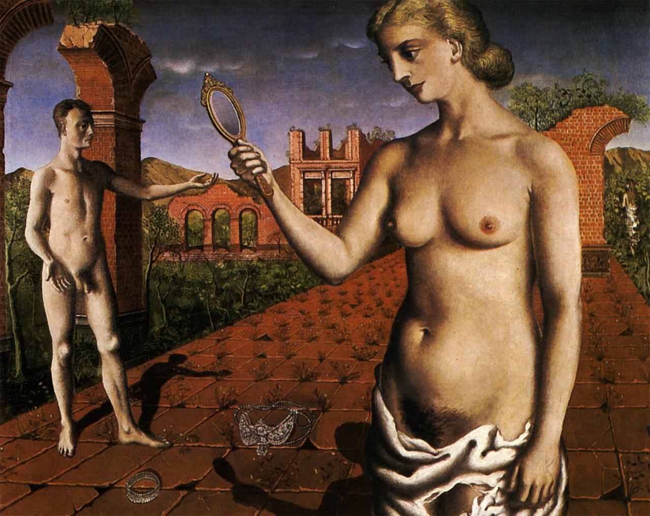 Послеобеденная месса.1937 Метафизическая живопись Поль Дельво (1897-1894)