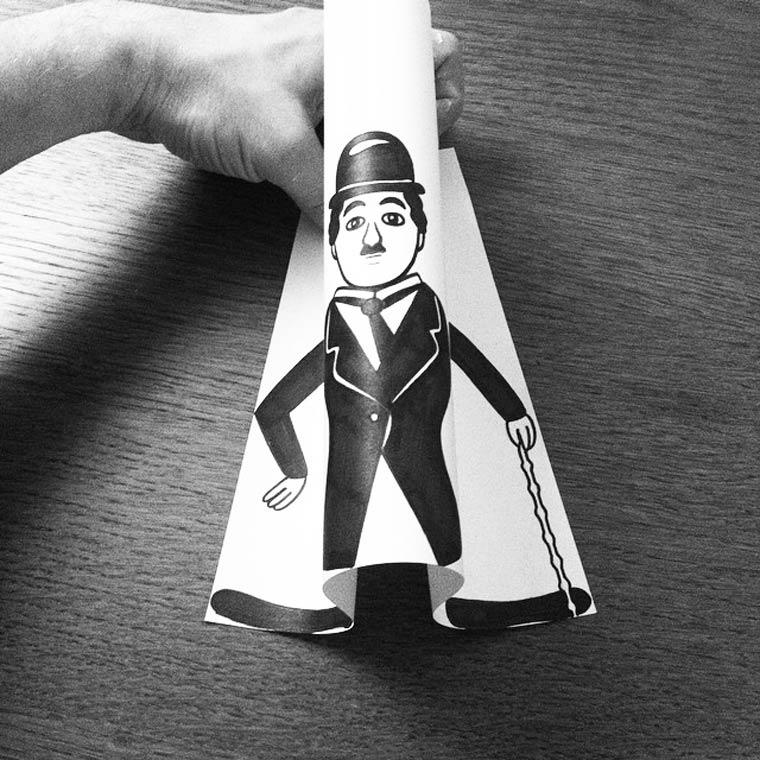 Открытки, прикольные рисунки из бумаги
