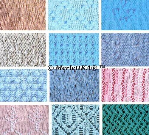 Сложные узоры для вязания на спицах