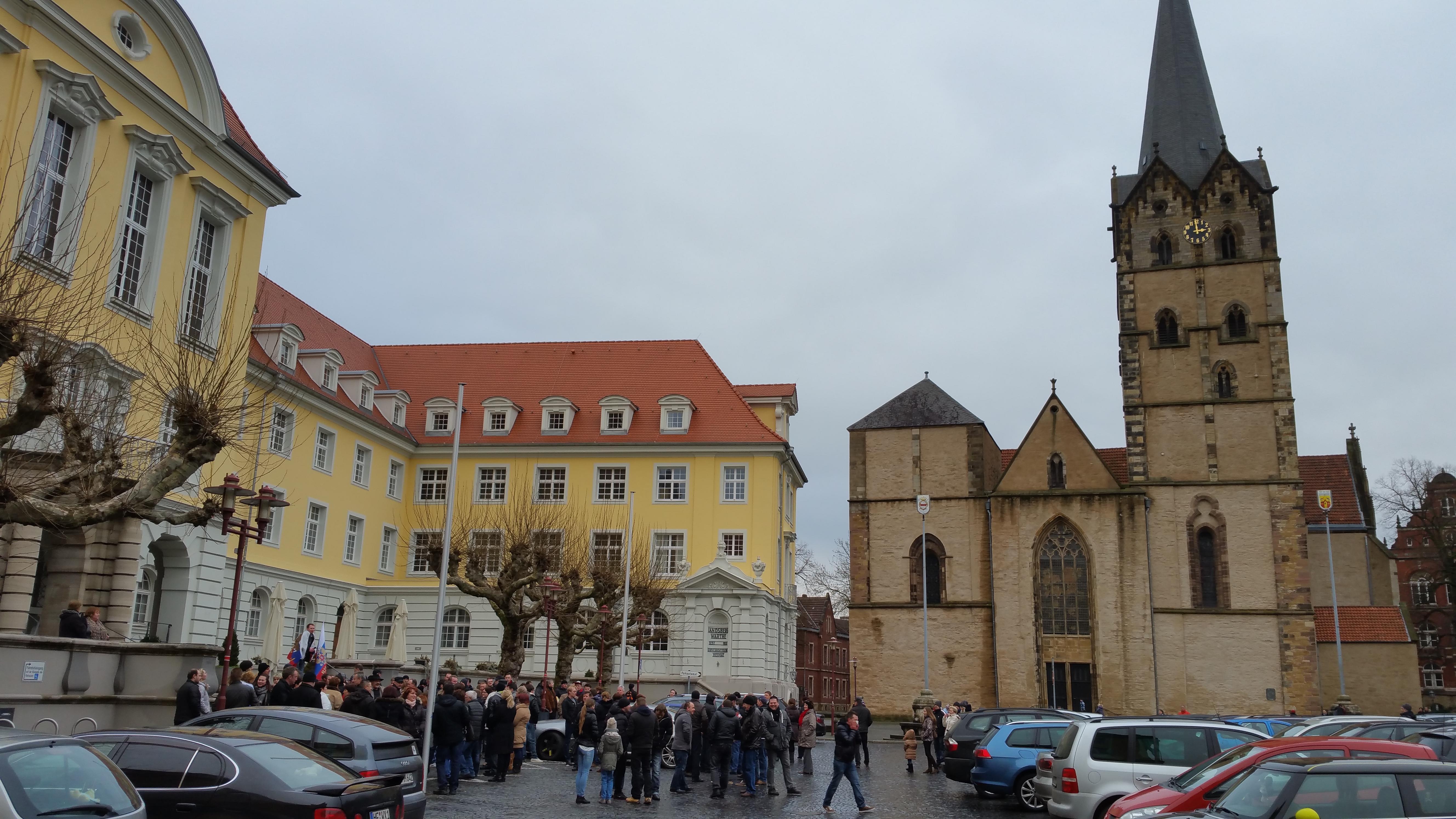 Русский марш против миграции в Германии
