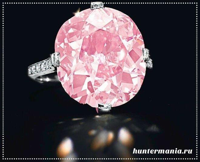 Самые дорогие бриллианты в мире - Розовый Кларк