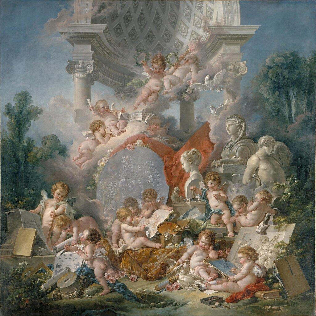 102.Гении искусств (1761) (Анжер, Музей искусств).jpg
