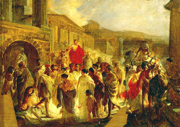 «Смерть Виргинии» 1857 г. Холст, масло.