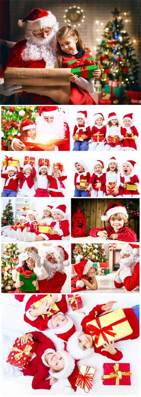 Дети и Санта Клаус