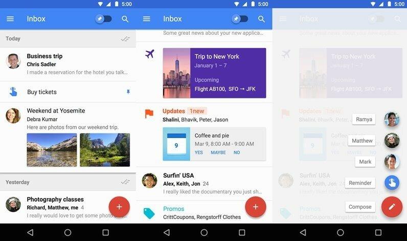 Inbox от Gmail. Почтовое Android-приложение