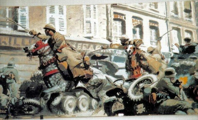 Albert Brenet - charge of the spahis la bataille de La Horgne le 15 mai 1940