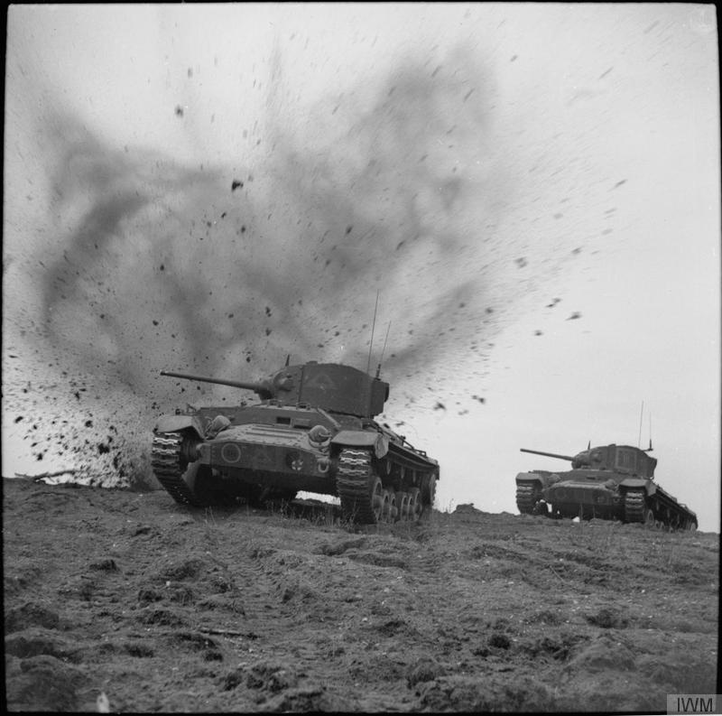 "Valentine tanks ""under fire"" during a training exercise, 20 December 1941."