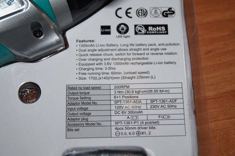 TomTop: Шуруповерт (аккумуляторная отвертка) Pro'sKit PT-1361F