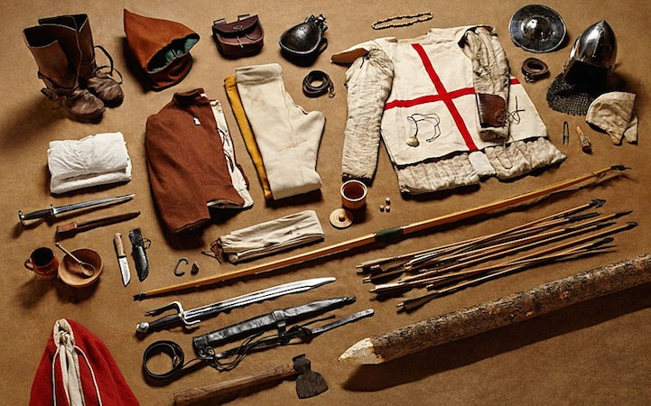 Экипировка лучника в битве при Азенкуре, 1415 год.