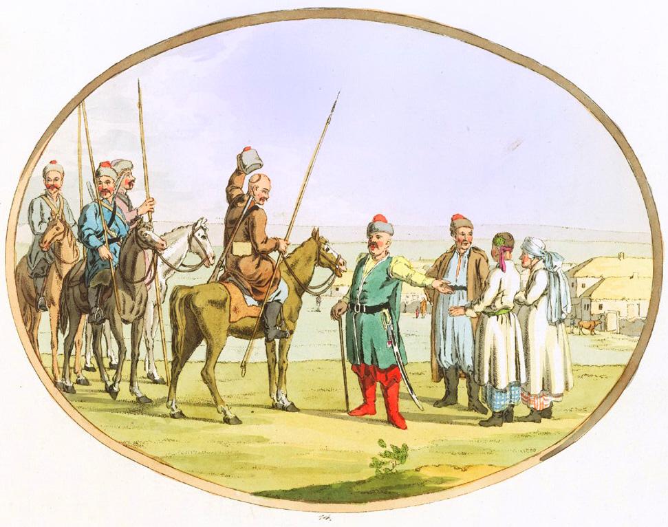 14. Запорожцы или Черноморские казаки / Saporoger oder Schwarzmeer-Kasaken