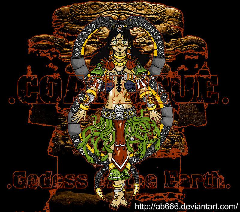 Коатликуэ (в платье из змей) - мать Уицилопочтли